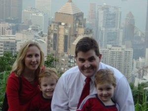Our careers in teaching took us to Hong Kong